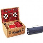 Greenfield Collection: Picknickkorb mit Decke
