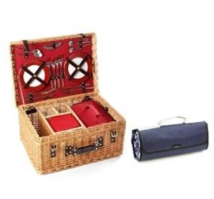 Greenfield Deluxe Picknickkorb inkl. Picknick Decke