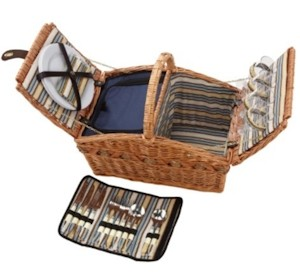 Picknickkorb für 4 Personen mit Kühlfach