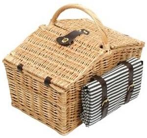 Greenfield 4 Personen Picknickkorb mit Decke