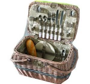 Romantik Picknickkorb für 2