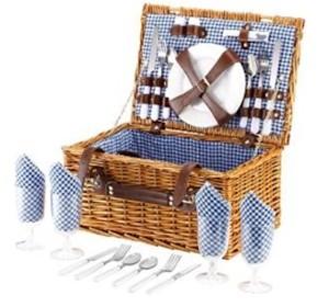 VonShef – 4 Personen Weidenkorb Picknickkorb
