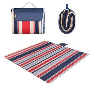 WolfWise 200 x 200cm XXL Picknickdecke: komfortable, hochwertige und praktische große XXL Picknick Decke