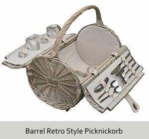 Barrel Retro-Style Picknickkorb